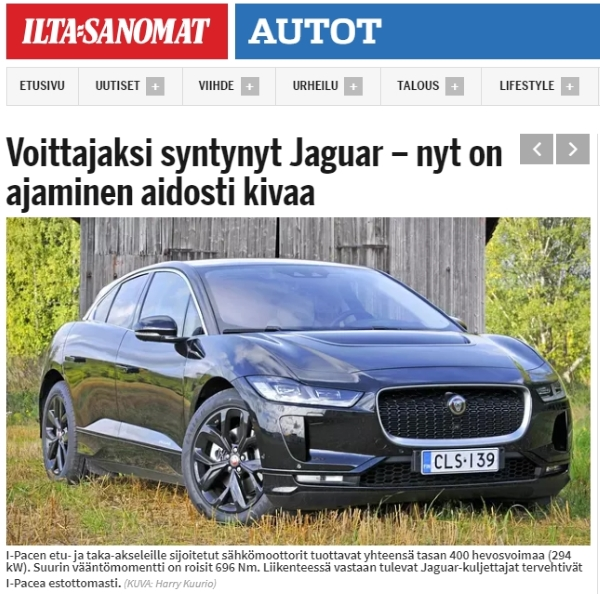 Jaguar I-Pace IS - SCC